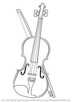 violin 3 coloring pages pinterest craft
