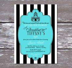 Printable Breakfast at Tiffany's Bridal Shower by PartyPrincipessa, $14.00