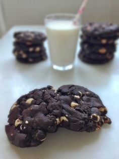 chewy chocolate white chocolate chip cookies