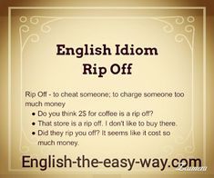 English Lesson  I don't _______ people to rip me off 1. want 2. like 3. both http://english-the-easy-way.com/Idioms/Rip_Off.html #Idiom