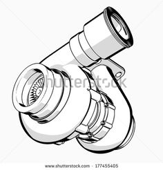 Turbocharger Drawing images & pictures - NearPics