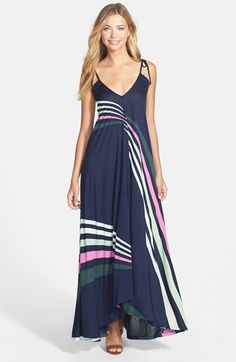 French Connection 'Rainbow' Jersey Maxi Dress // @Nordstrom