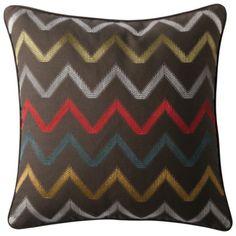 "Mudhut™ Amani Embroidered Chevron Pillow - 18x18"""