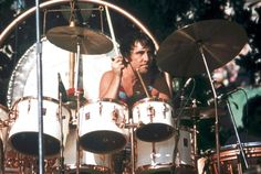 Keith Moon behind his kit Oakland 1975, he was the beat behind the band and the rest they say is ...