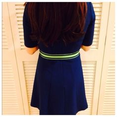 """Green & Navy Fabric Belt Fits any size depending on how you fasten it. Measures 36""""in length. Abercrombie & Fitch Accessories Belts"""