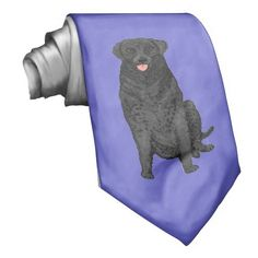 Black Retriever Dog on a Neck Tie zazzle.com/cardshere* zazzle.com/artistjandavies*