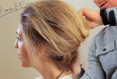 Casual & teased updo tutorial, perfect for adding a headpiece. #JustFabinlove #Wedding