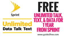 HOT! GetFREE Unlimited Talk, Text, & Data for 1 Year from Sprintwhen you bring an eligible unlocked smartphone! Just port your number to Spint and they will give you a year of service for FREE! There's no annual contract and you can keep your phone, number, accessories, photos, apps and music. It's really that simple. You can check your eligibilityhere.Offer ends 6/30/2017. Credit approval req. Req. AutoPay, eBill, and port-in from postpaid carrier. Savings until 7/31/18