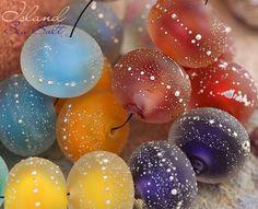 Lampwork Beads - Island Sea Salt Round Strand, $120.00 (http://www.thelampworkbeads.com/island-sea-salt-round-strand/)