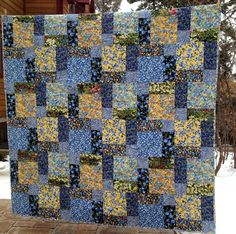 Starwood Quilter: Disappearing 9-Patch Texas Wildflowers Tablecloth