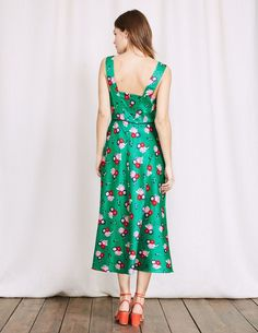 Boden Romilly Dress - Meadow Green Blossom