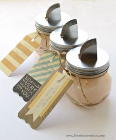 Homemade gifts are the best! A few years ago I made this fun sewing kit in a jar for teacher and friend gifts and this year I decided on bath salts and sugar scrubs! Bath salts and sugar scrubs are great for teachers because they are something they can use, it's not a plate full … … Continue reading →