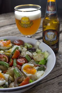 Nicoise, Tasty, Yummy Food, Greek Recipes, Salad Dressing, Food Styling, Salad Recipes, Sweet Home, Food And Drink