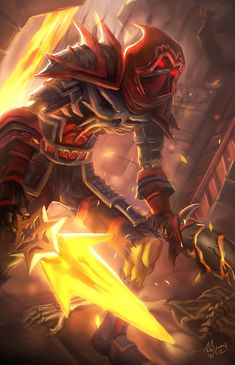 """""""Rogue Assassin from World of Warcraft, very cool... Looks like a fire assassin here... I'd love to find some magic elemental assassins... Or draw my own... One day..."""" - F.C.H."""