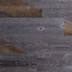 """Stikwood in """"reclaimed weathered wood"""". (Peel and stick, real wood planks for walls)"""