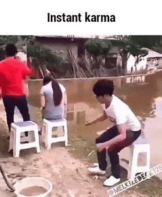 Instant karma GIF