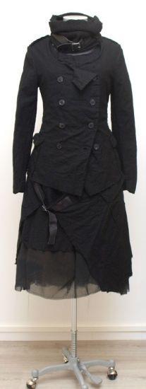 rundholz - Jacke mit Gürtel Wool Cotton Mix black - Winter 2015 - stilecht - mode für frauen mit format...
