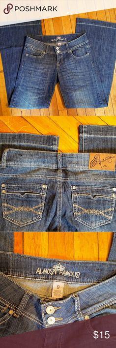 Almost Famous jeans sz 9 Dark denim Almost famous jeans sz 9 Almost Famous Jeans Flare & Wide Leg