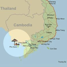 phu quoc island Vietnam Map, South Vietnam, Vietnam Travel, Asia Travel, Qui Nhon, Buddhist Pagoda, Chinese New Year Holiday, Thailand, Can Tho