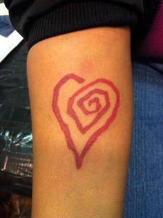 Marilyn Manson heart logo: Eat me, Drink me...tattoo.