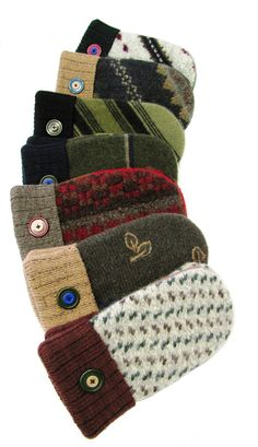 Earthtone Twice Baked Recycled Wool Mittens