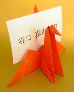 折り鶴の席札 l 紙舗 味岡 ブライダルペーパーアイテム