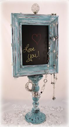 Stamp Talk with Tosh: Chalkboard Display Stand link to cool finishing tech vid Spindle Crafts, Wood Crafts, Picture Frame Crafts, Picture Frames, Diy Projects To Try, Craft Projects, Crafts To Sell, Diy And Crafts, Deco Luminaire