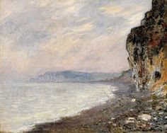 Cliffs at Pourville, Monet