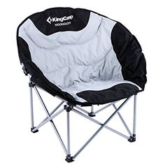 KingCamp Moon Leisure Hevey Duty Steel Camping Chair Padded Seat with Cooler Bag *** Click on the image for additional details.