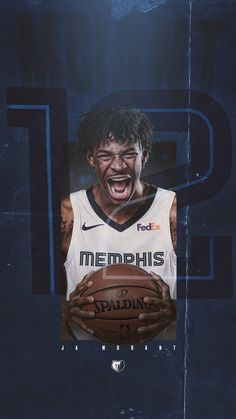 Ja Morant Mempgis wallpaper Basketball Posters, Basketball Is Life, Basketball Legends, Nba Basketball, Lebron James Wallpapers, Nba Wallpapers, Nba Pictures, Basketball Pictures, Michael Jordan