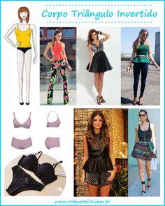 Você tem o tipo de corpo triângulo invertido? Então, vem conferir dicas de peças e tipos de roupas que ficam ideais em você.