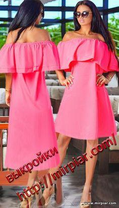 free pattern, ПЛАТЬЯ, dresses, платье с открытыми плечами, pattern sewing, блуза с воланом, выкройки платьев, выкройки скачать, выкройка, шитье, выкройки бесплатно, готовые выкройки, мода