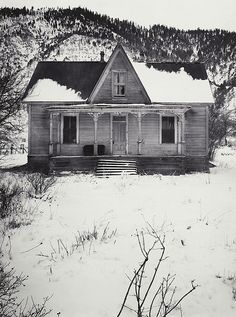 Ranch House near Carson City, Nevada, Winter 1962 Ansel Adams Black And White City, Black And White Landscape, Black N White Images, Ansel Adams Photography, City Photography, Nature Photography, Edward Weston, Sierra Nevada, Famous Photographers