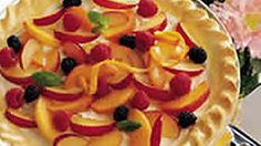 Devonshire cream is a rich thickened cream traditionally served with scones and tea.  In this pie, this creamy flavoring  is combined with mixed fruit to create a perfectly delectable pie!