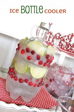 DIY Ice Bottle Cooler-what a great idea!