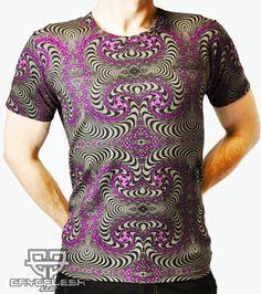 Fractal Shirt Printed Shirt made of Cotton Lycra. Psytrance Clothing, Future Fashion, Summer Tops, Printed Shirts, Colorful Shirts, Female, Blouse, Prints, Mens Tops