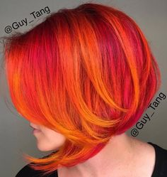 New hair ombre red guy tang Ideas Cheveux Oranges, Sunset Hair, Corte Y Color, Guy Tang, Coloured Hair, Bright Hair, Hair Images, Grunge Hair, Hair Today
