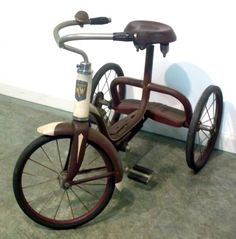 Just like the one my brother rode. Old Bicycle, Old Bikes, Tricycle, Retro Toys, Vintage Toys, Antique Toys, Vintage Antiques, Pedal Cars, Bike Parts