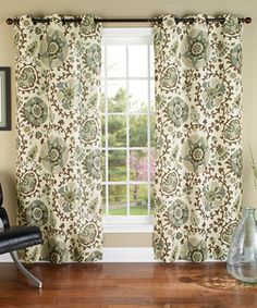 Look what I found on #zulily! Smoke Medallions Curtain Panel - Set of Two by m.style #zulilyfinds