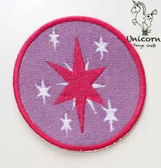 My Little Pony Twilight Sparkle Cutie Mark Embroidery Patch