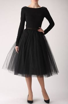 Black tulle skirt, Handmade long skirt, Handmade tutu skirt #blacktulleskirt