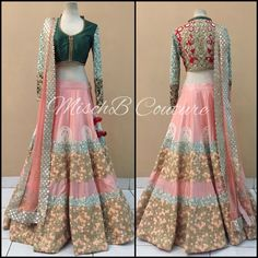 Interesting Color Combo @ The Blooming Tales, #Lehenga by MischB Couture Jakarta https://www.facebook.com/Misch-B-250069948348484/