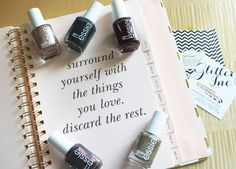 Surround yourself with the things you love, discard the rest. - Kate Spade #essie #katespade