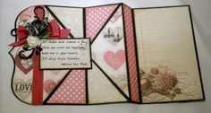 Designs by Lisa Somerville: Upright Diamond Fold - Bloggers Challenge Quotes