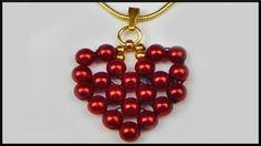 DIY | Perlen Herz Anhänger basteln | Valentines day | Heart beaded penda...