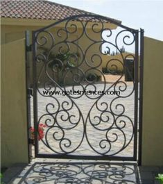 Tuscany - Iron Walk Gate, Single Walk Gate or Double Garden Gates, Door Gates