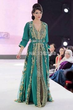 Vintage Green Arabic Kaftan Evening Dresses Long Sleeves Lace Applique Chiffon Abaya Dubai Evening Gowns 2015-in Evening Dresses from Weddings & Events on Aliexpress.com | Alibaba Group