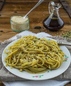 Kübiskernöl - Spaghetti mit gerösteten Kürbiskernen