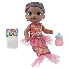 Baby Alive Shimmer 'n Splash Mermaid Baby Doll (Black Hair) Dolls Baby Alive Doll Clothes, Baby Alive Dolls, Baby Doll Toys, Baby Mermaid, Mermaid Dolls, Interactive Baby Dolls, Fantasias Halloween, Baby Doll Accessories, Realistic Baby Dolls