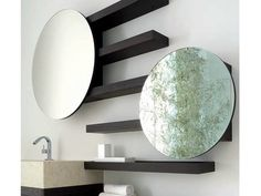 Bathroom mirror Wengè Collection by Dogi by GeD Arredamenti | design Enzo Berti